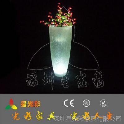 供应玻璃钢简约花盆 LED创意花盆 多肉花盆 花盆容器厂家