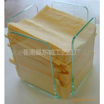 供应有机玻璃纸巾盒U+U型分体式新奇特透明盒(厂家直销直供)