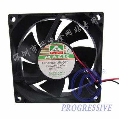 商业专用设备用8025散热风扇 台湾永立MGA8024UR-O25 A系列 24V直流风扇