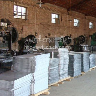 石家庄批发铝合金铝扣板片料 300滚涂铝天花板优质制造商