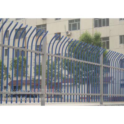 厂区双向弯头围墙栅栏@小区方管栏杆@锌钢围栏