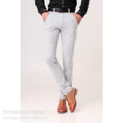 2015夏季新款 时尚大方男式休闲裤 纯棉修身男士长裤子批发