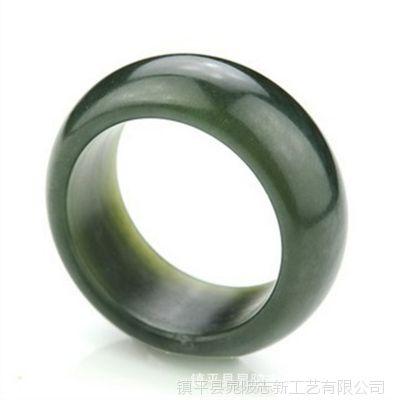 天然和田青玉戒指批发 玉石扳指批发 玉器工艺品厂家直销
