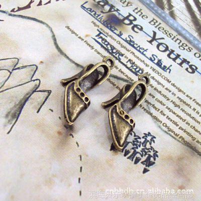 DIY饰品配件批发 复古合金 26*11MM高跟鞋 古铜色 50个 0748 2289