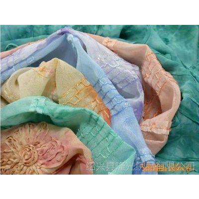 供应100D 雪纺钩绣 扎染布 印花布 女装面料