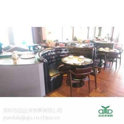 深圳罗湖西餐厅桌椅,现代西餐厅家具组合 运达来防火板桌椅 简约现代