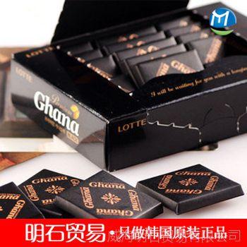 【11月临期】 韩国进口巧克力 乐天加纳纯黑巧克力 90g*24盒/箱