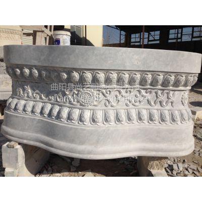 尚艺雕刻设计加工制作石雕汉白玉底座 须弥座莲花瓣坐台