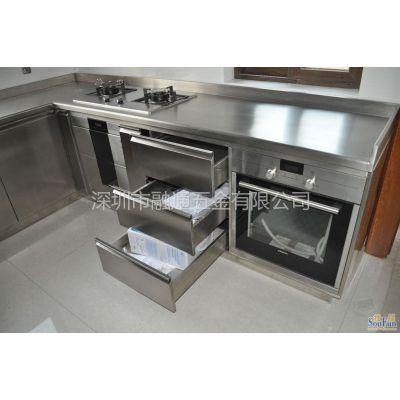供应不锈钢橱柜制作 超好不锈钢橱柜款式 图片