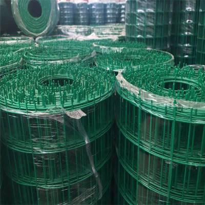 养殖场围栏@包塑料皮绿色钢丝网厂家@河北浸塑荷兰网