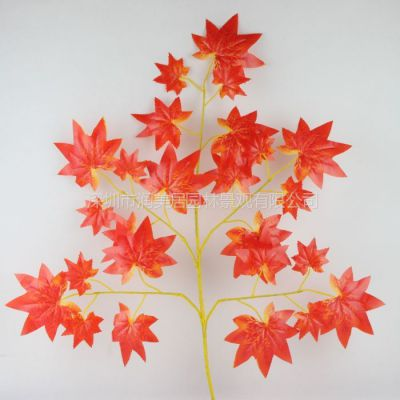 供应仿真枫叶装饰树叶仿真绿枫树叶假红黄枫叶仿真枫树叶子