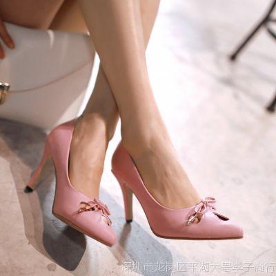2015早春夏季高跟鞋女鞋子单鞋甜美8CM糖果色33码大码女