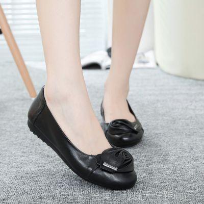 一件代发2014新款真皮妈妈鞋女单鞋豆豆鞋浅口工作鞋平底休闲女鞋