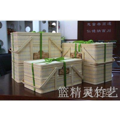 安吉竹篮厂家直接供应 多种食品包装竹盒 多用途竹篮 竹包装