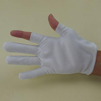 东莞厂家直销防静电点胶断二指手套 品质优异