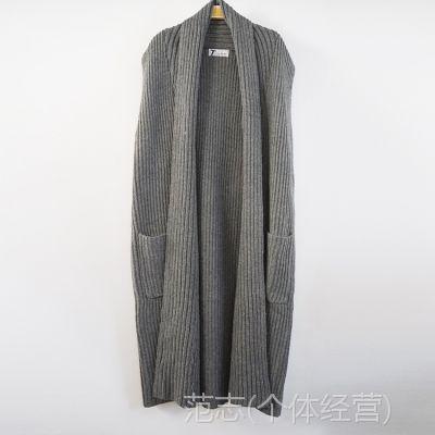 欧洲站2015新秋女装 无袖羊毛长款马甲欧美流行女式马甲 厂家直销
