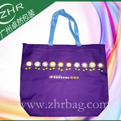 慈善宣传基督教会礼品袋 出口台湾牛津布袋 热转印600D卡通涤纶布袋