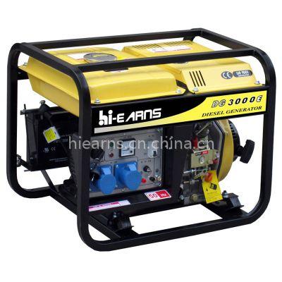 供应3KW 发电机DG3000 Hi-earns家庭用柴油开架发电机