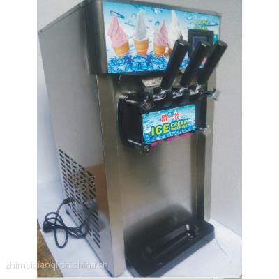 商用台式3色软质冰淇凌机甜筒机雪糕机