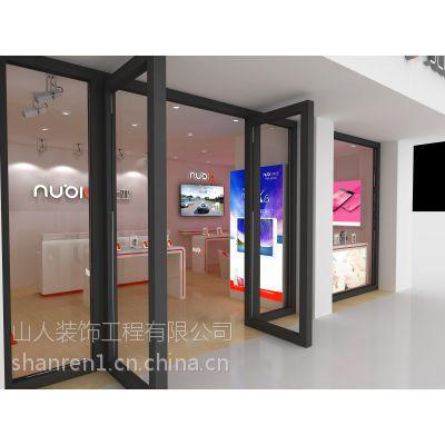 济南手机展柜制作,商场展柜货架搭建舞台布置公司