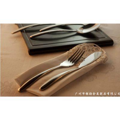 供应银貂餐具厂供系列INDIO不锈钢餐具西餐刀叉勺