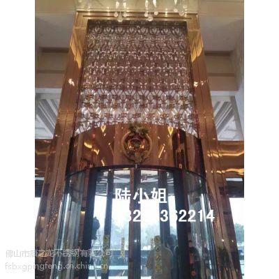 供应玫瑰金镜面不锈钢门框 304玫瑰金镜面门套 钛金拉丝不锈钢门套