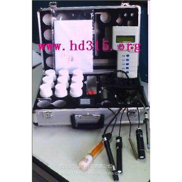 中西便携式水质分析仪(温度 盐度 溶氧度 pH 氨氮 硫化氢 ,(亚硝酸是试剂