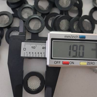 供应厂家定做卫浴花洒配件4分平面过滤网垫片40目304材质
