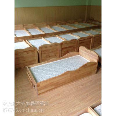 低价供应幼儿园简易实木午休单人床,大林宝宝质量好,价格低