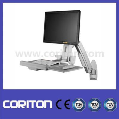 弹簧臂显示器、一体机、键盘鼠标一体化壁挂、站立式办公支架