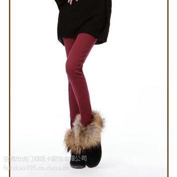 加绒裤冬季靴裤女修身铅笔裤时尚显瘦小脚裤低价批发
