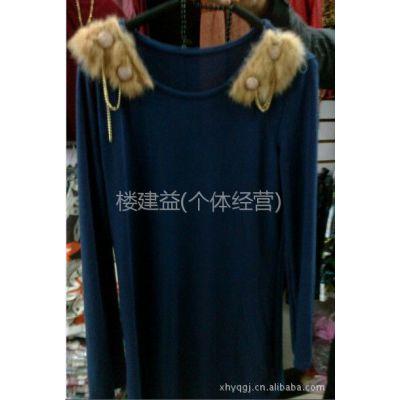 供应秋装 时尚 欧美修身中长款圆领百搭长袖打底衫T恤