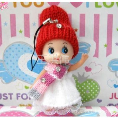 供应批发 特价8cmEVA迷糊娃娃挂件 卡通花束公仔 促销赠品