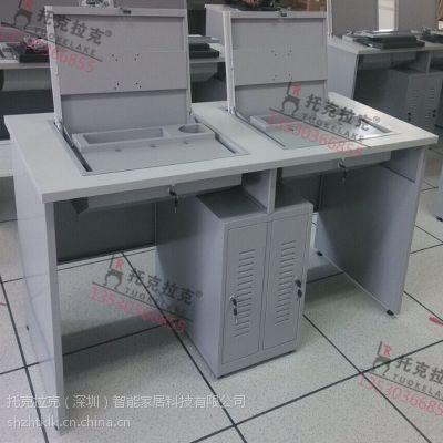 托克拉克TKLK-06双人实验室电脑桌一桌多用显示器可隐藏简约现代款