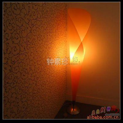 供应星光灯饰 品牌灯具 8503温馨浪漫的PVC卧室台灯/桔红