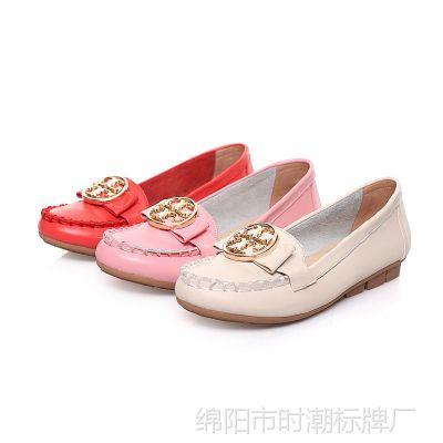 外贸休闲低帮女单鞋新款真皮女鞋舒适妈妈鞋圆头平底鞋子