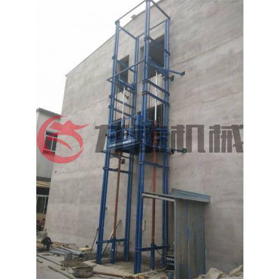 长白朝鲜族自治县升降机 室外导轨式升降货梯施工现场及井道设计