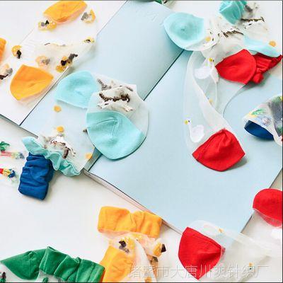 T家日系原宿 卡通冒险系列 创口贴玻璃丝皮凉鞋女袜夏袜子