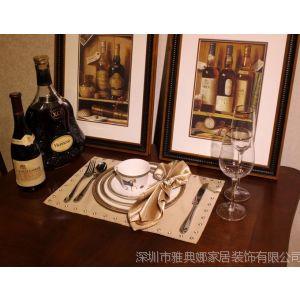 供应雅典娜家居 欧式餐厅餐具 样板房餐具 餐桌装饰品 家具厂餐具配饰