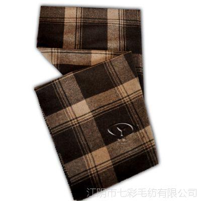 供应法兰格粗纺毛呢面料 咖啡色驼色大格子服装服饰布料830