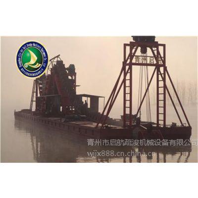 挖沙船_青州启航绞吸式挖泥船_青州大型挖沙船价格