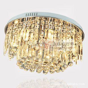 供应水晶吸顶灯现代客厅水晶灯餐厅灯卧室灯CC810S 圆形新款