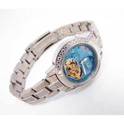 稳达时 时尚热销 不锈钢女士全自动机械钢表 手表厂家代工定做
