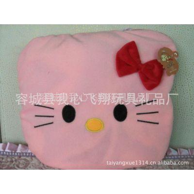 供应猴子飞毛绒玩具 KT猫多功能抱枕被 草莓靠垫空调被 婴幼儿毛毯被