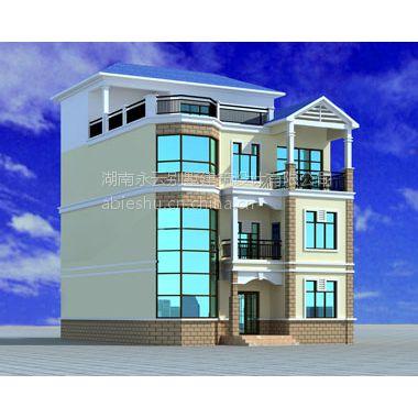 永云别墅AT396四层水电复式建筑构图纸结构设不织布英文24字母别墅图片