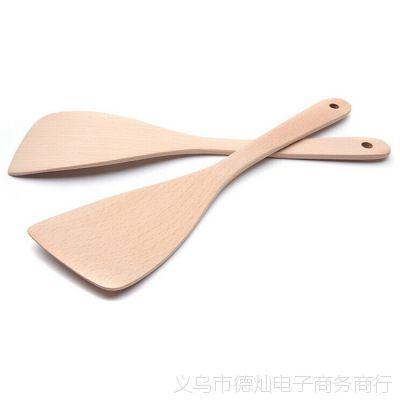 定制榉木木铲精致烧菜饭铲32cm斜铲韩式炒年糕铲赠品铲勺批发