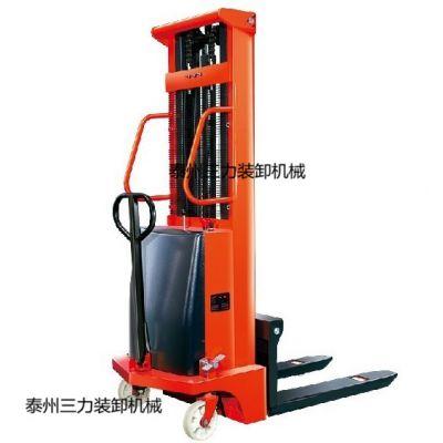 特供1吨简易式半电动堆高车 半电动装卸车 电动堆高车
