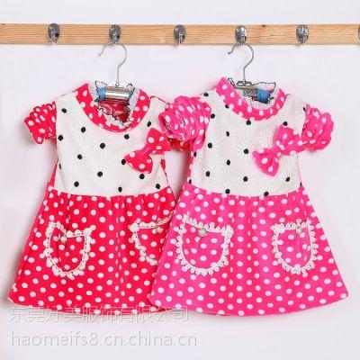 2015冬季童装新款女童加绒长袖连衣裙儿童网纱连衣裙韩版童裙