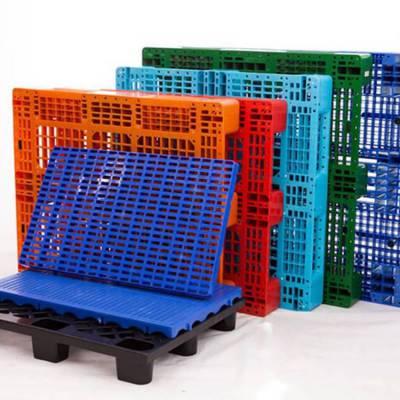全新PE蓝色料单面九脚型1100*1100*145四面进叉塑胶卡板