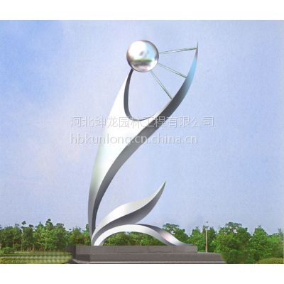 不锈钢雕塑 河北坤龙雕塑 城市景观不锈钢雕塑 专业订制价格合理